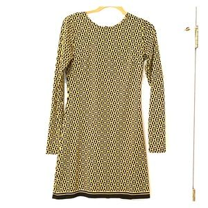 Julie brown dress with classic chain print